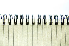 Spiral Notebook. Frame on white background Royalty Free Stock Photos