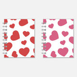 Spiral notebook heart design Royalty Free Stock Images