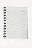 Spiral notebook isolated background Royalty Free Stock Images