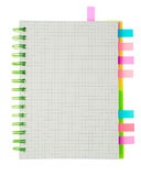 Spiral notebook isolated Royalty Free Stock Photo