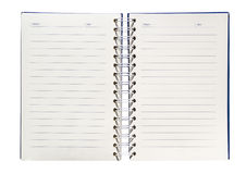A spiral notebook Stock Image