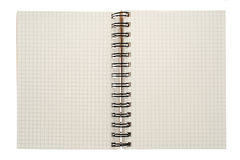 Spiral notebook isolated Stock Photos
