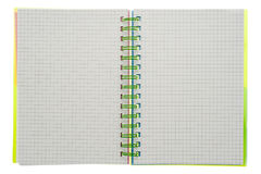 Spiral notebook isolated Stock Images