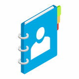 Spiral notebook isometric 3d icon Royalty Free Stock Photography