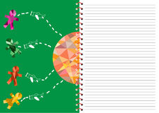 Spiral notebook with lined,children day cards Royalty Free Stock Photo