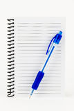 Spiral Notebook and Pen. Royalty Free Stock Photography
