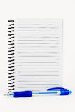 Spiral Notebook and Pen. Royalty Free Stock Photo