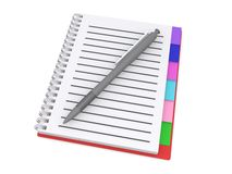 Spiral notebook and pen Royalty Free Stock Image