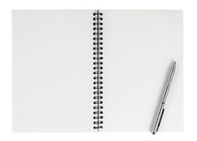 Spiral notebook with pen isolate Royalty Free Stock Photography