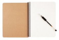 Spiral notebook and pen Royalty Free Stock Photography