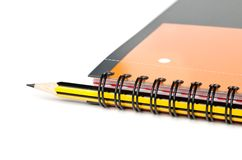 Spiral notebook and pencil Royalty Free Stock Photo
