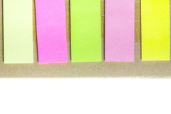 Spiral notebook and post-it Stock Images