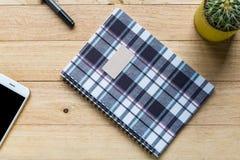 Spiral notebook or ring binder book. Stock Photo