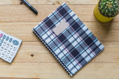 Spiral notebook or ring binder book. Stock Images