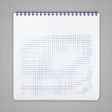 Spiral notebook with squared paper sheets Stock Images