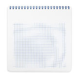 Spiral notebook with squared paper sheets Royalty Free Stock Image