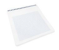 Spiral notebook with squared paper sheets Stock Photos