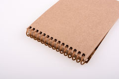 Spiral notebook. On a white background Stock Images