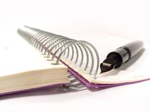 Spiral Notepad. Pen and Notebook Stock Images