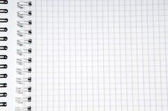 Spiral notepad close up Stock Photos