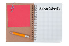 Spiral notepad and pencil Royalty Free Stock Images