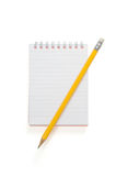 Spiral notepad and pencil Royalty Free Stock Photo