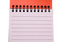 Spiral Notepad Vertical Royalty Free Stock Images