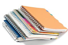 Spiral notepads Stock Images