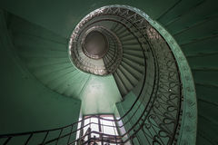 Spiral Old Green And Grunge Staircase Stock Images