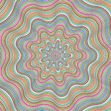 Spiral op art background Stock Photo