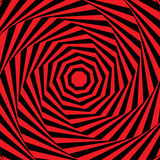 Spiral op art background Stock Image