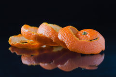 Spiral orange peel Stock Photo