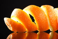 Spiral orange peel Royalty Free Stock Photography