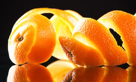 Spiral orange peel royalty free stock photo