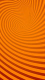 Spiral Orange Striped Abstract Tunnel Background Stock Photos