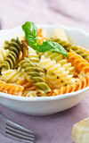 Spiral pasta Stock Images