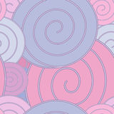 Spiral, pastel seamless pattern Royalty Free Stock Image