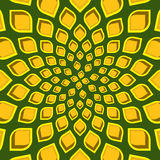 Spiral Pattern. Spiraling Floral Pattern in yellow, orange and brown Stock Photo