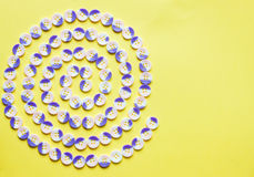 Spiral pattern of buttons Royalty Free Stock Photos