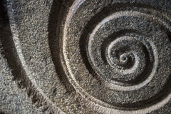 Spiral Pattern Carved in Stone Royalty Free Stock Images