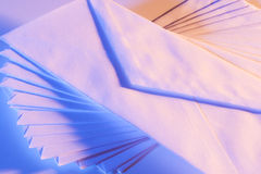 Spiral pattern of envelopes Royalty Free Stock Photo