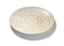 Spiral pattern plate on white background Royalty Free Stock Photography
