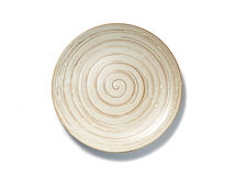 Spiral pattern plate on white background top view Stock Images