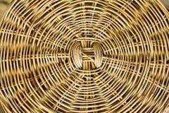 Spiral pattern of rattan. Detail of spiral pattern of rattan furniture Stock Photo