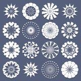 Spiral Patterns Template Set Royalty Free Stock Photos