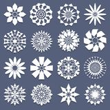 Spiral Patterns Template Set Stock Photography