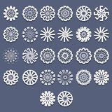 Spiral Patterns Template Set Stock Photo
