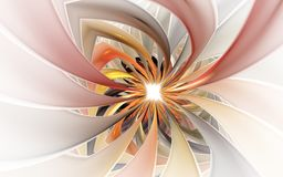Free Spiral Petal Fireworks Computer-generated Image. Abstract Fractal Of Beautiful Flower Of Ribbons Stock Photo - 167925180
