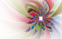 Free Spiral Petal Fireworks Computer-generated Image. Abstract Fractal Of Beautiful Flower Of Ribbons Stock Photo - 168926260