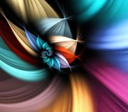 Spiral Petals Abstract. Multicolor, spiraling flower petals effect - fractal abstract background Royalty Free Stock Images